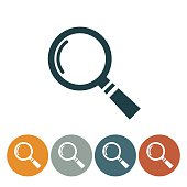 Flat Round Website Icons Magnifying Glass