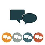 Flat Round Wedsite Icon - Speech Bubble