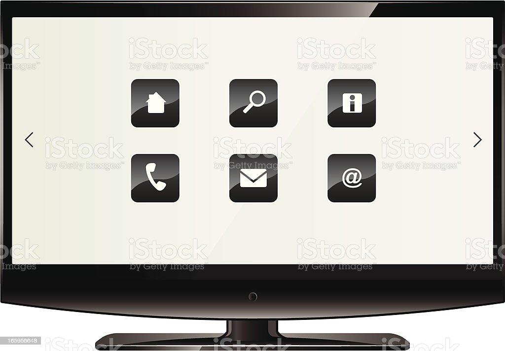 Flat Screen HDTV royalty-free stock vector art