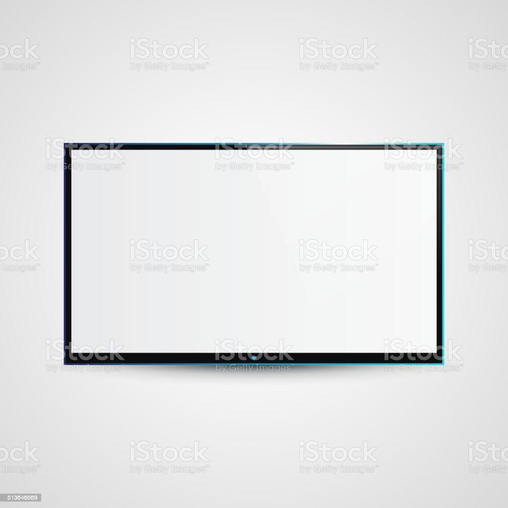 TV Flat Screen Icd Illustration vector art illustration