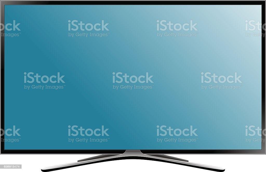 TV flat screen lcd plasma. Realistic vector illustration. vector art illustration