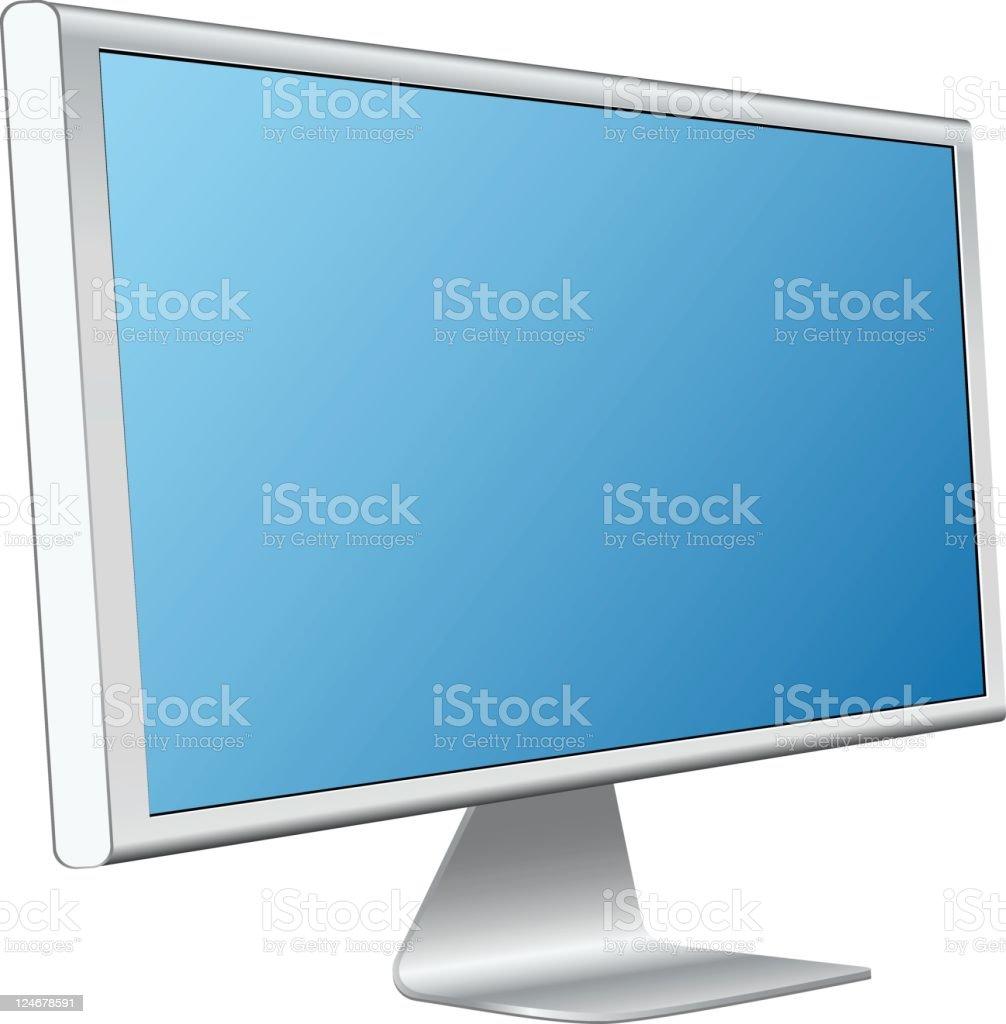 Flat screen monitor royalty-free stock vector art