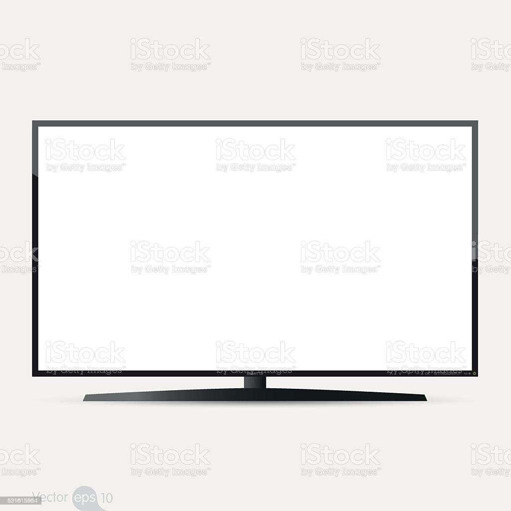TV flat screen, vector vector art illustration