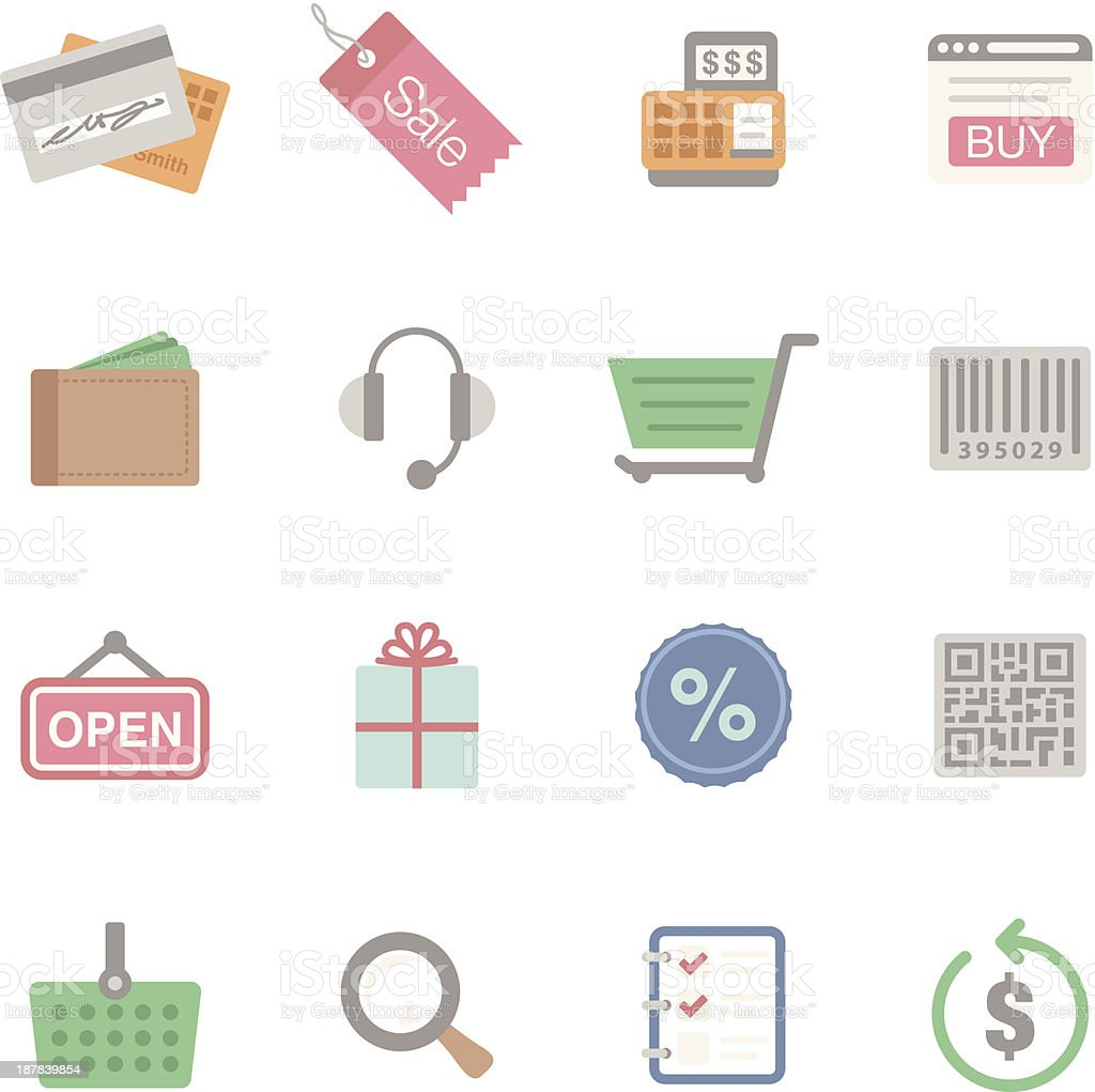 Flat | Shopping royalty-free stock vector art
