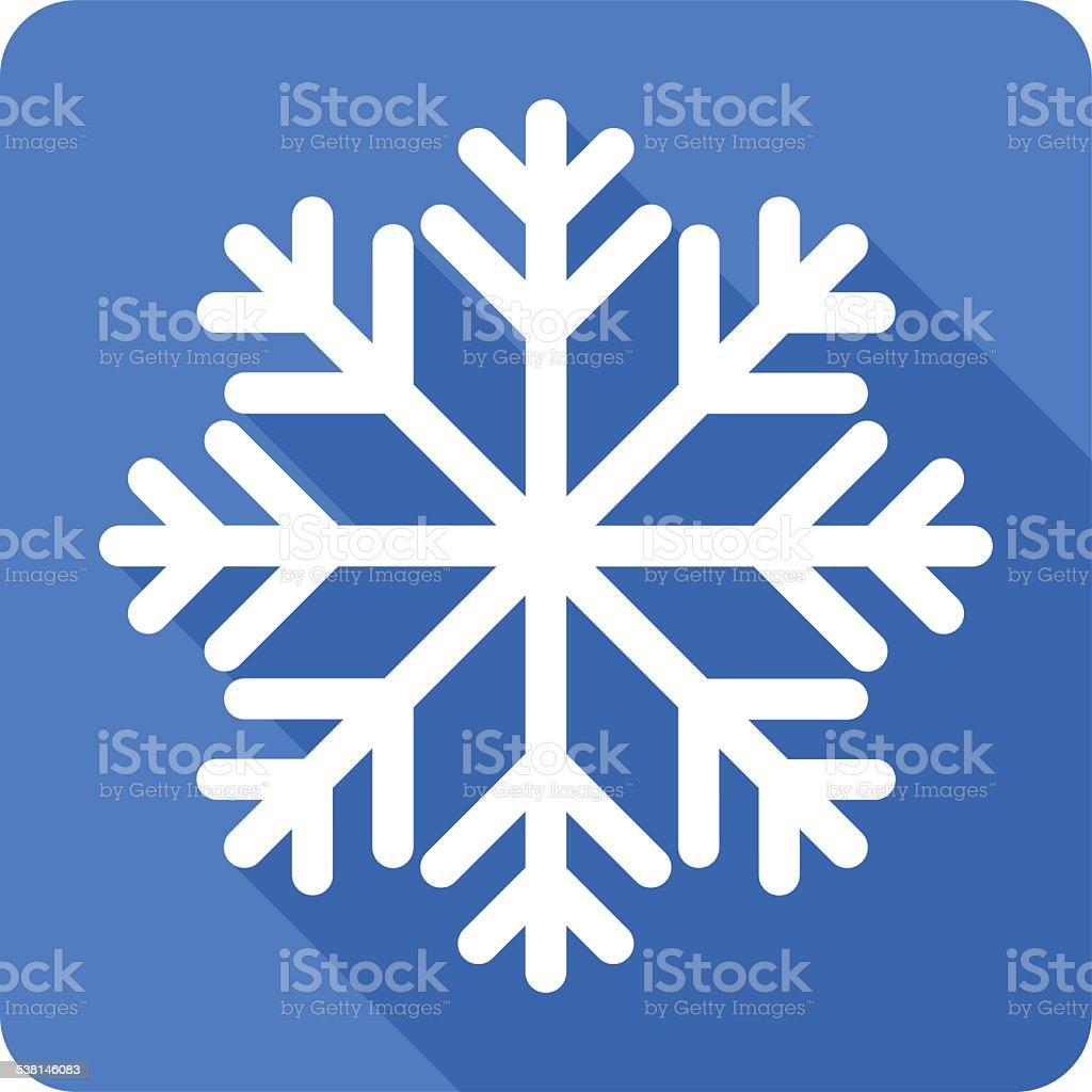 Flat Snowflake Icon vector art illustration