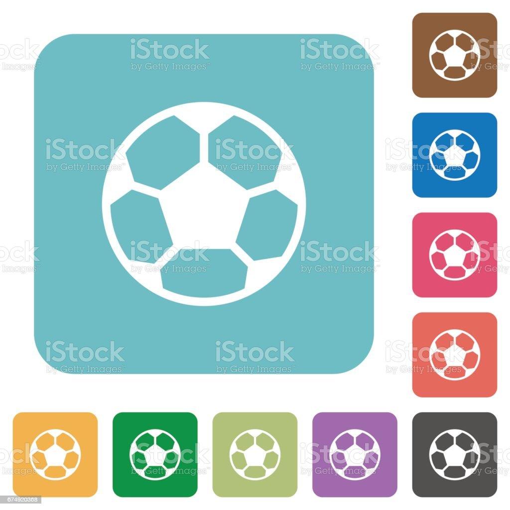 Flat soccer ball icons vector art illustration
