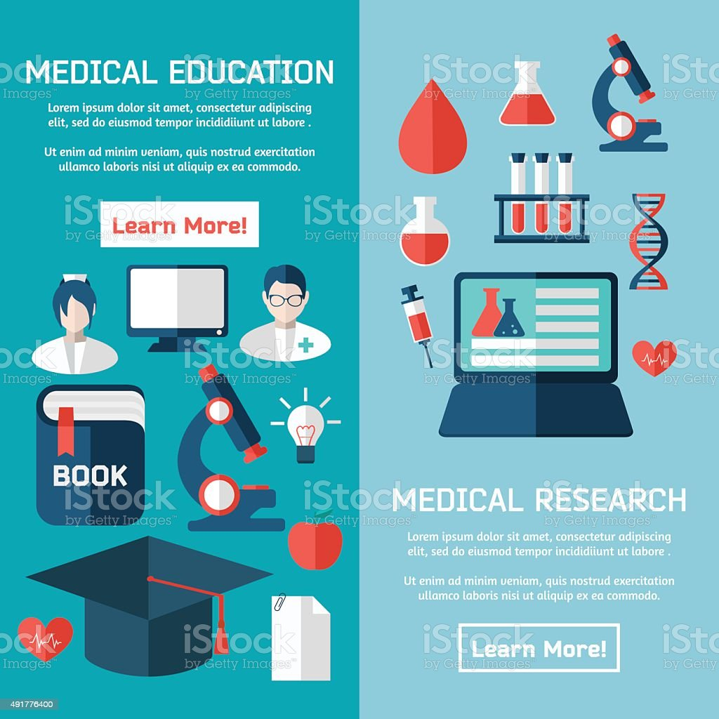 Flat style business medical research infographic concept vector art illustration
