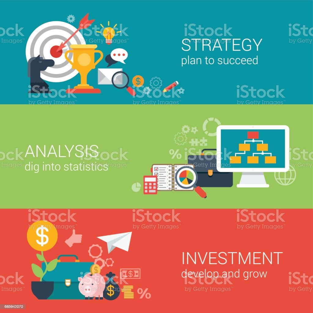 Flat style business success strategy target aim finance analysis flat style business success strategy target aim finance analysis growth investment infographic concept geenschuldenfo Images