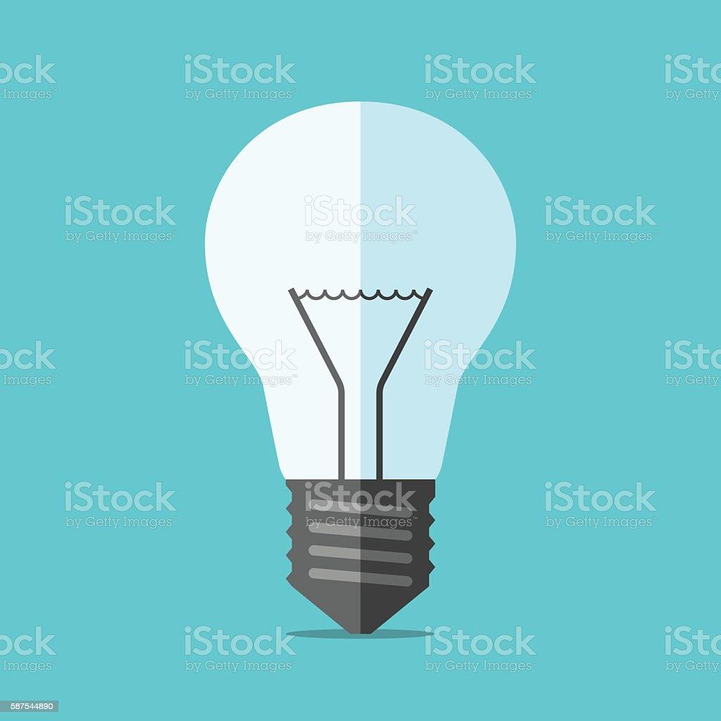 Flat style light bulb vector art illustration