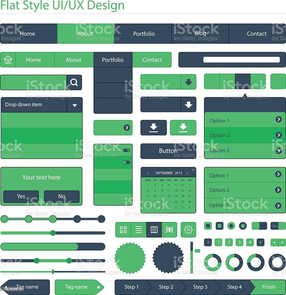 Flat style UI/UX design royalty-free stock vector art