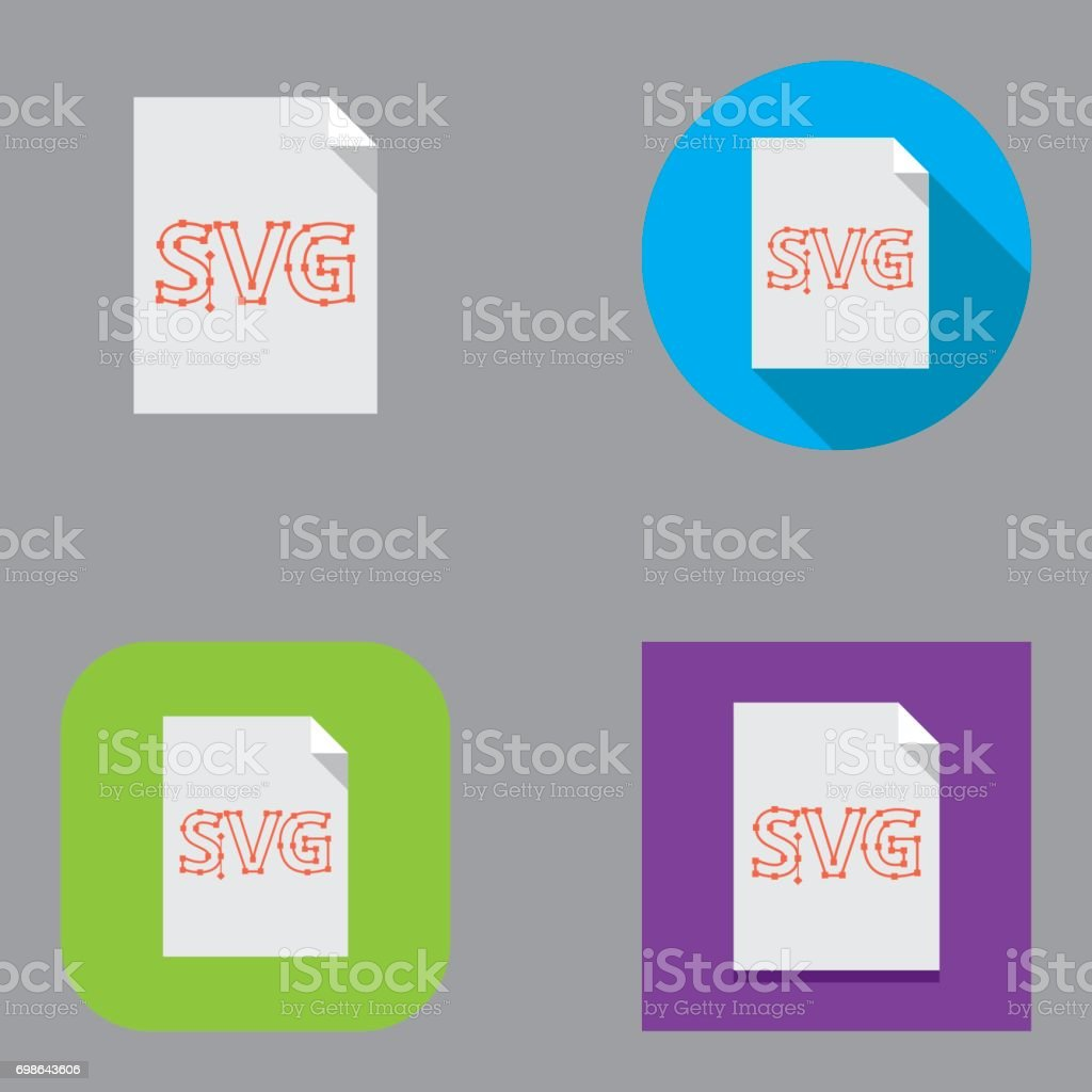 Flat SVG (Scalable Vector Graphics) icons | Kalaful series vector art illustration