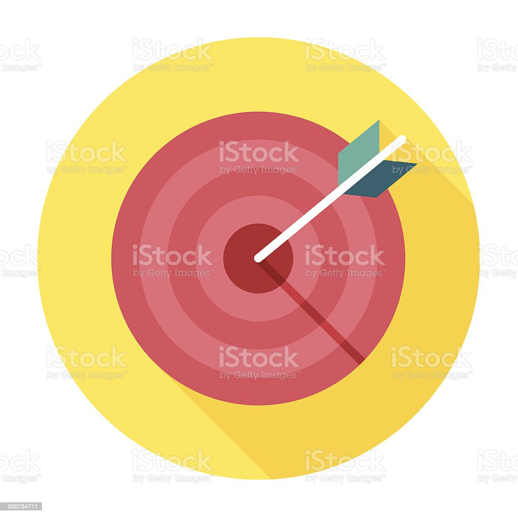 Flat Target Icon vector art illustration