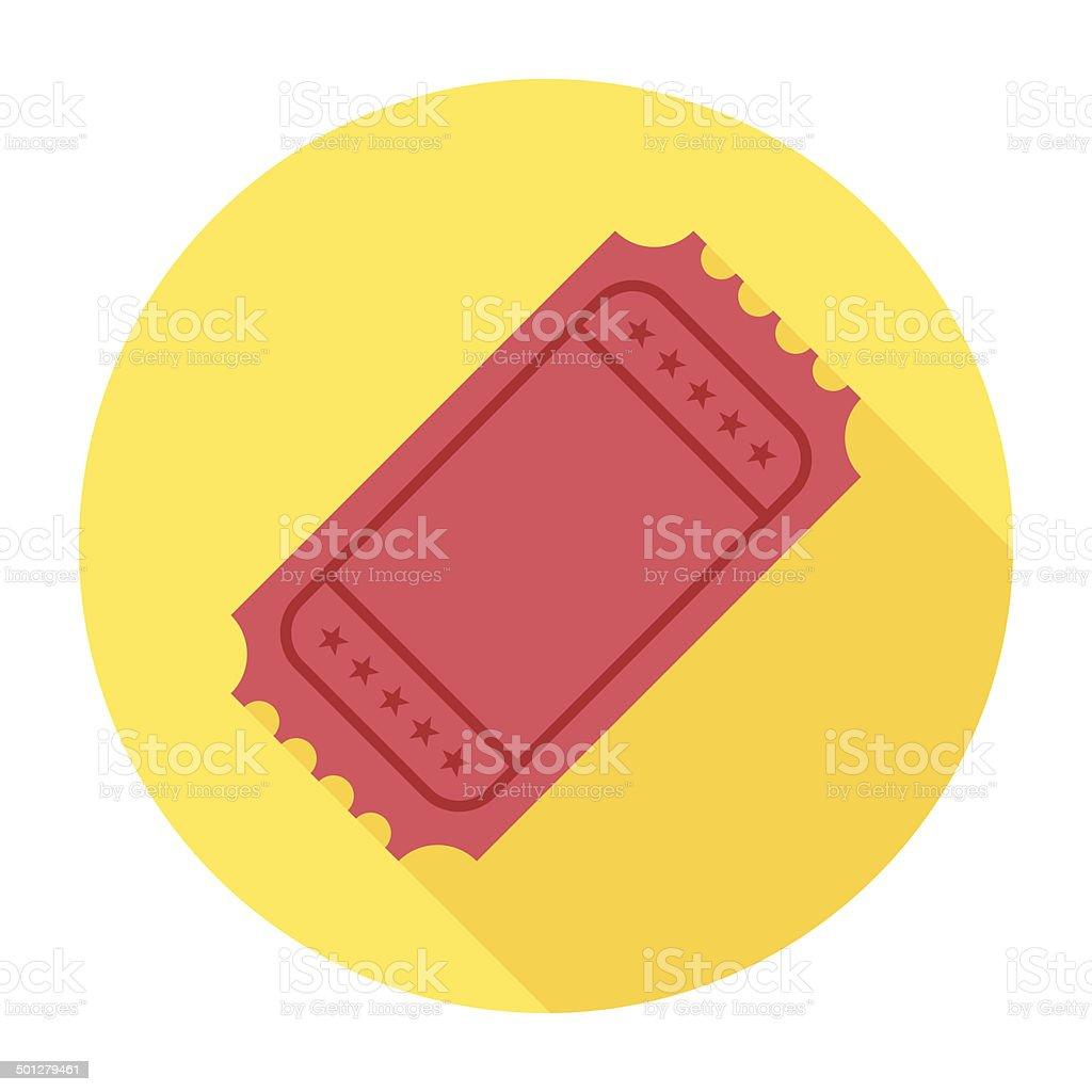 Flat Ticket Icon vector art illustration
