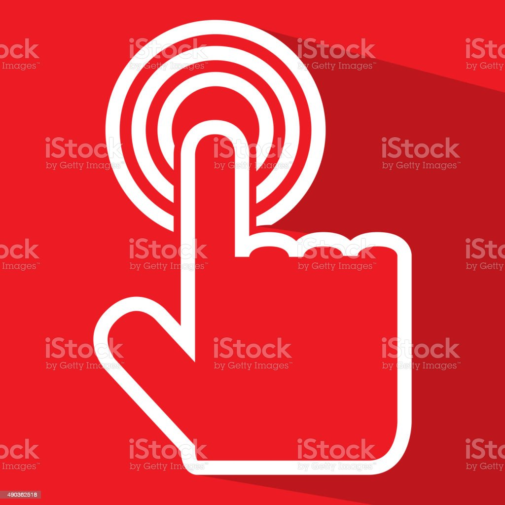 Flat touch icon. vector art illustration