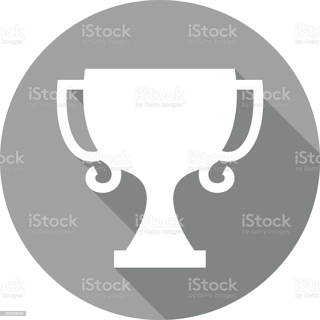 flat trophy icon vector art illustration