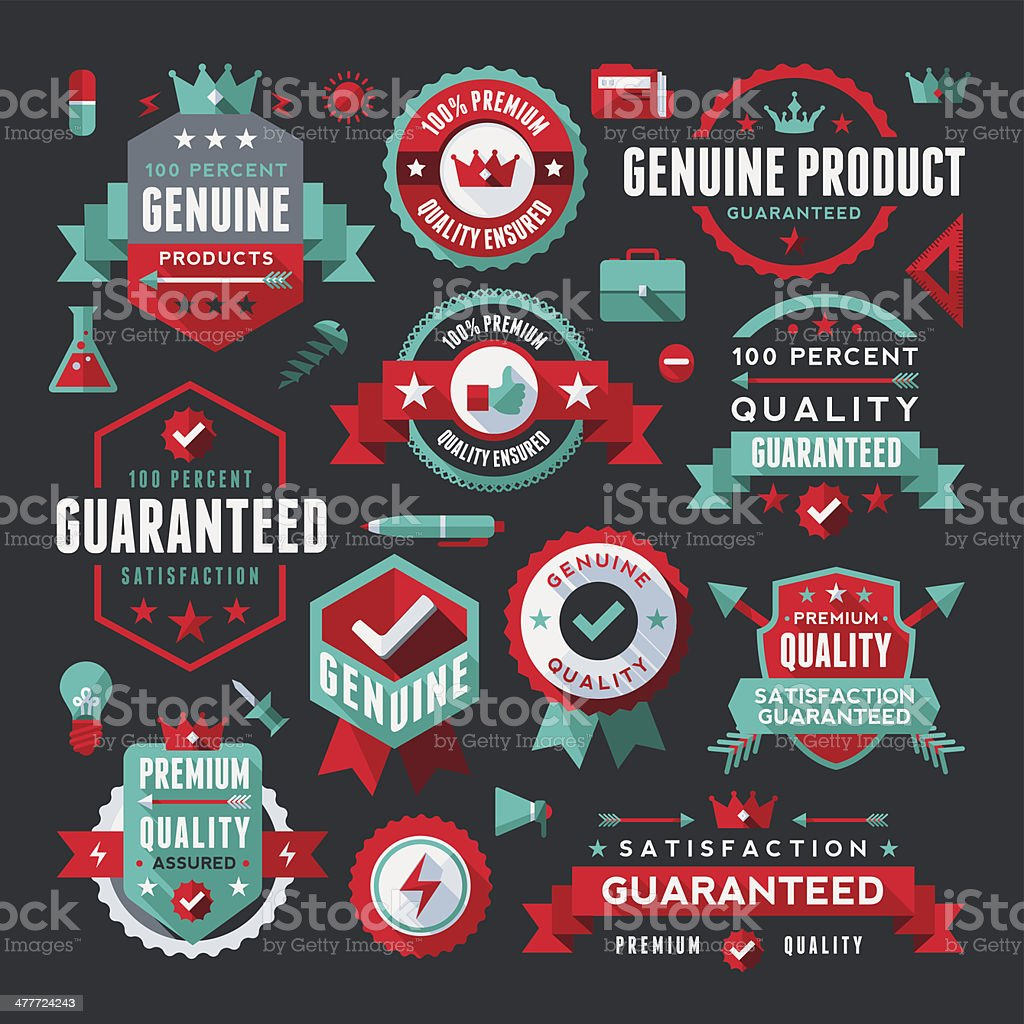 Flat UI Style Labels Collection royalty-free stock vector art