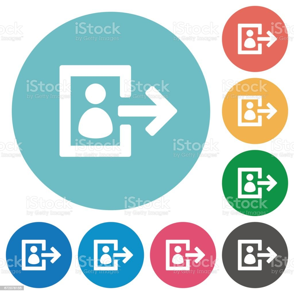 Flat user logout icons vector art illustration