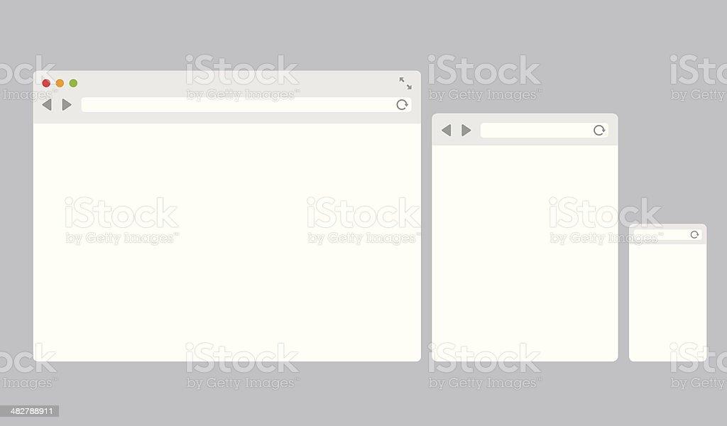 Flat vector browser templates vector art illustration