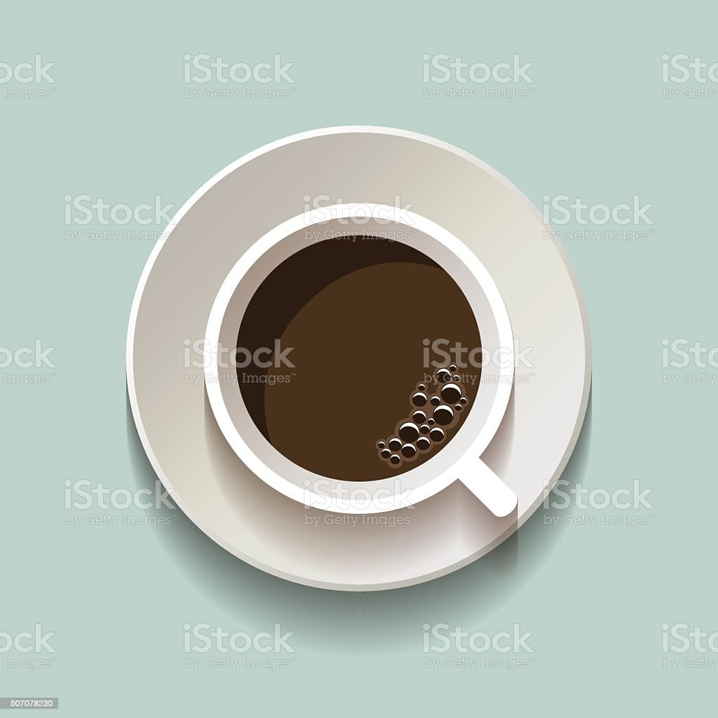 Flat vector coffee cup icon vector art illustration