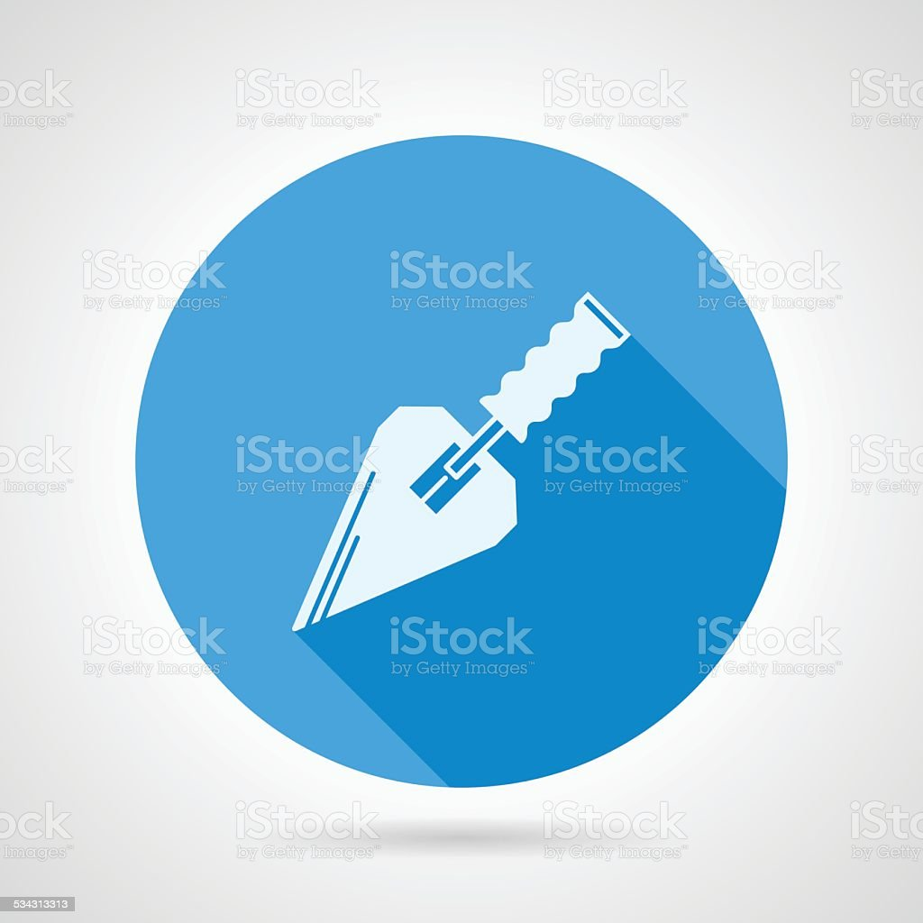 Flat vector icon for construction trowel vector art illustration