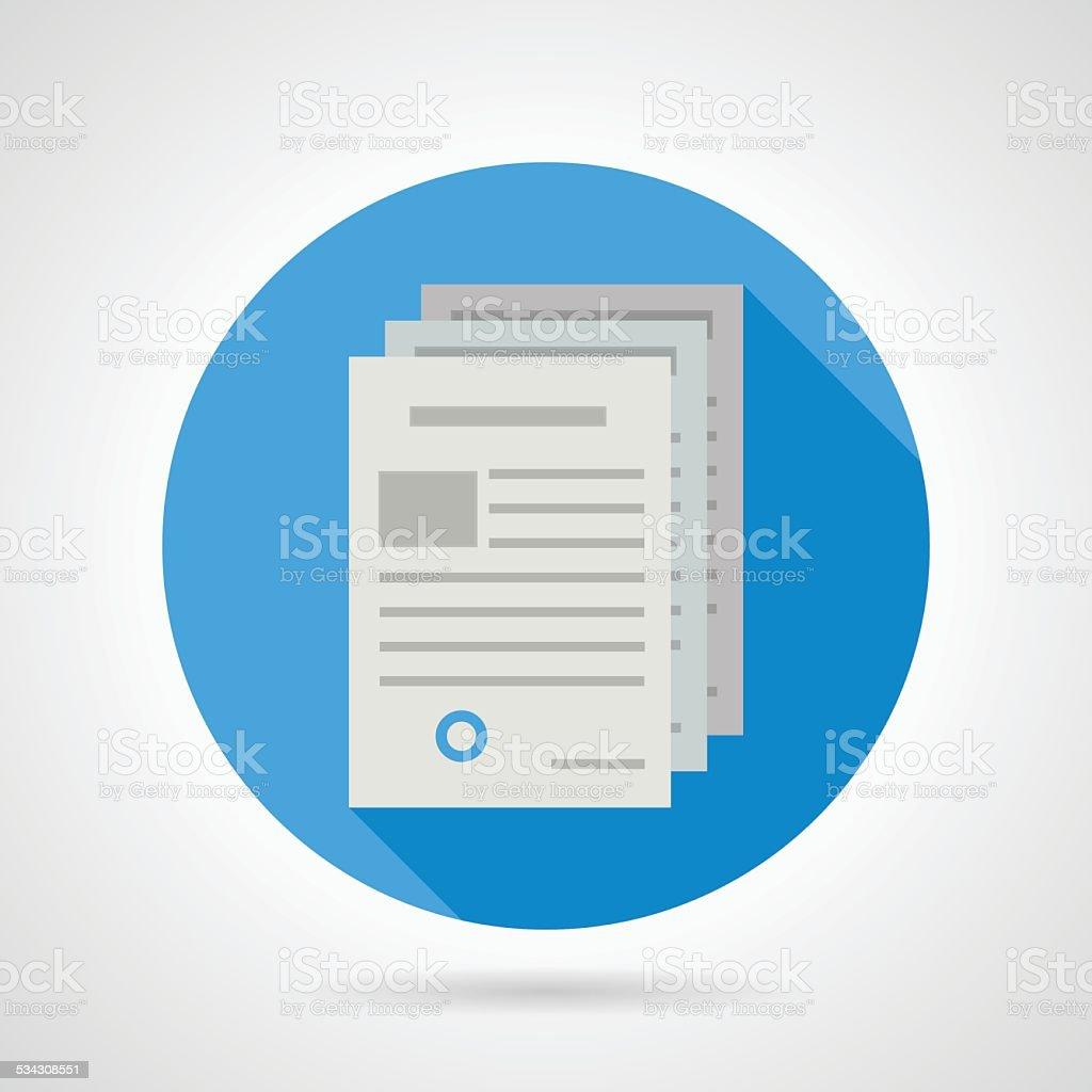 Flat vector icon for document vector art illustration