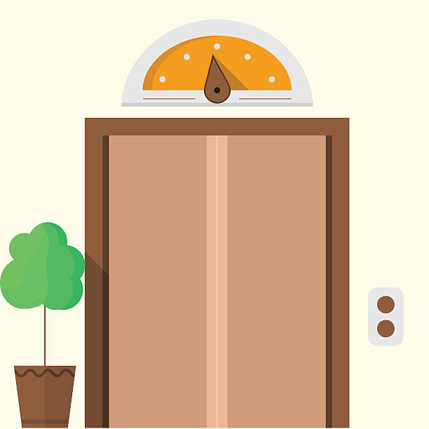 Elevator doors clip art vector images illustrations