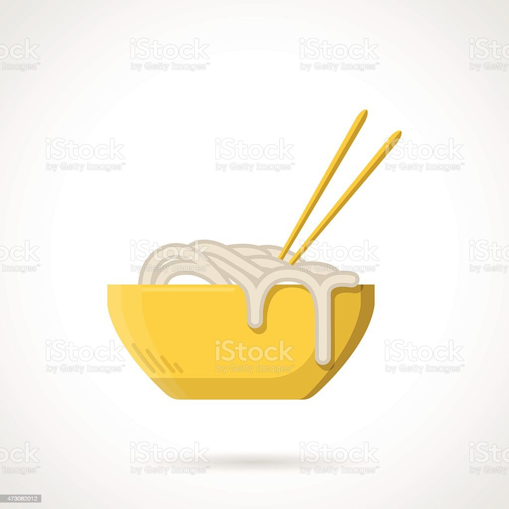 Flat vector icon for noodle dish vector art illustration
