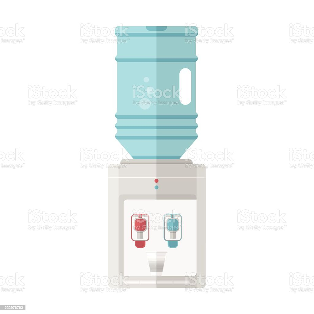 Flat vector icon for water cooler vector art illustration