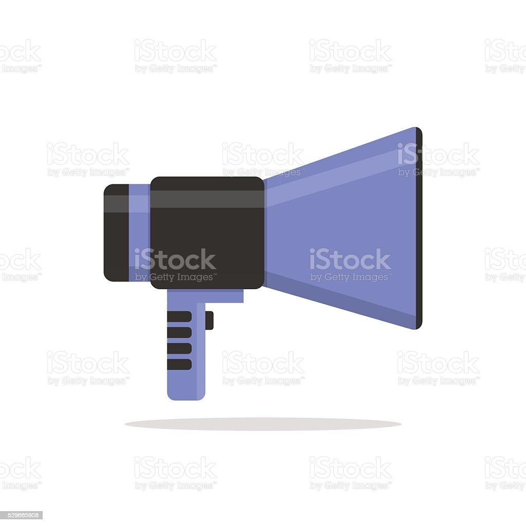 Flat vector icon of megaphone vector art illustration