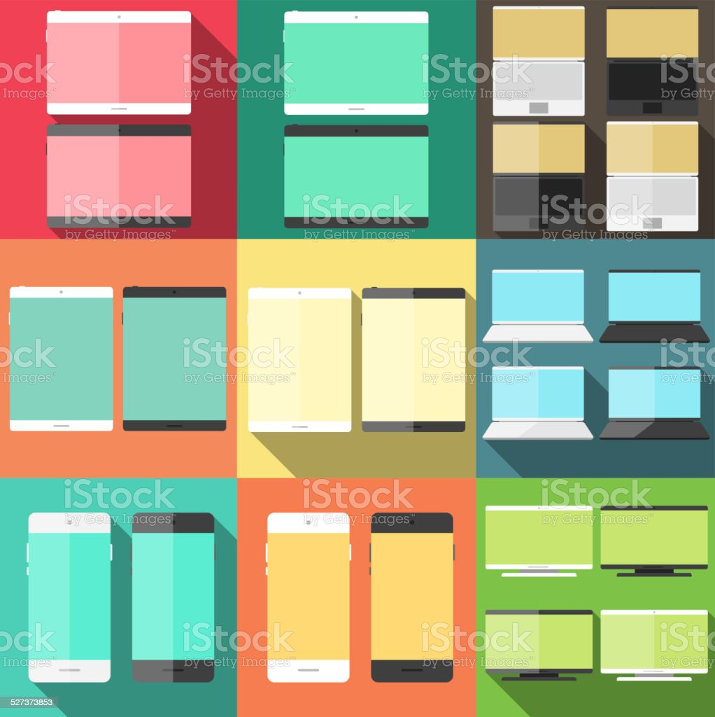 flat vector icons vector art illustration