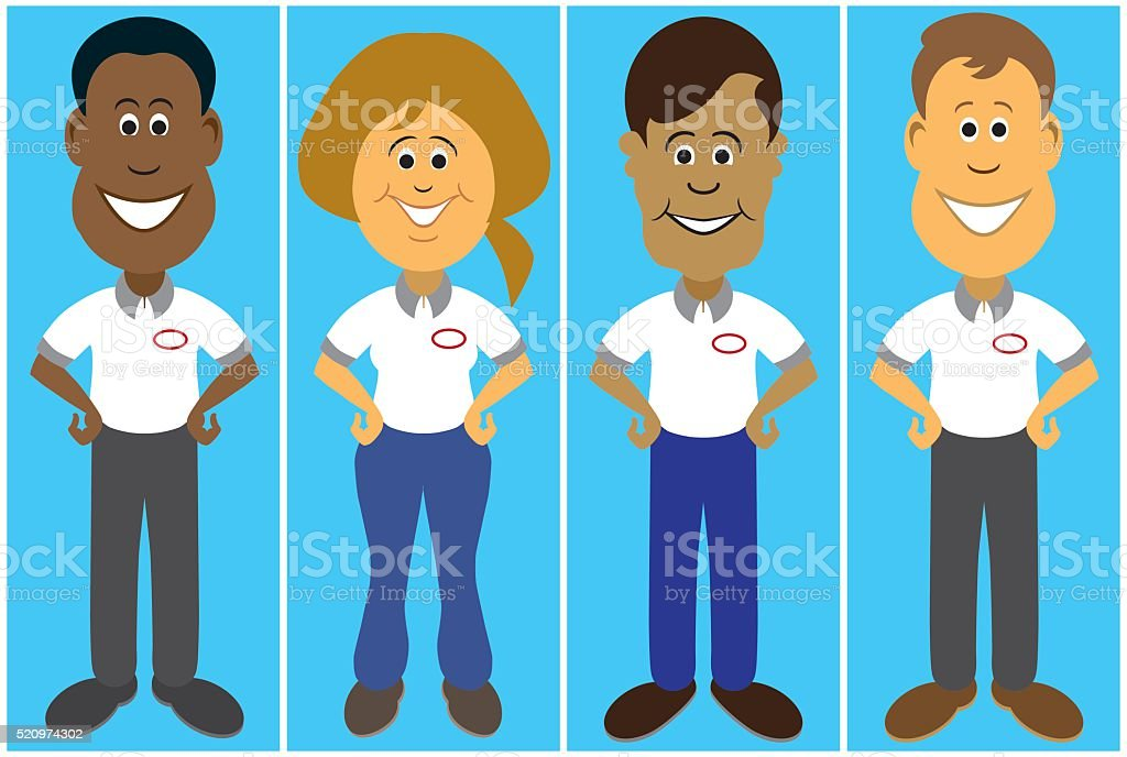 Flat Vector Service People vector art illustration