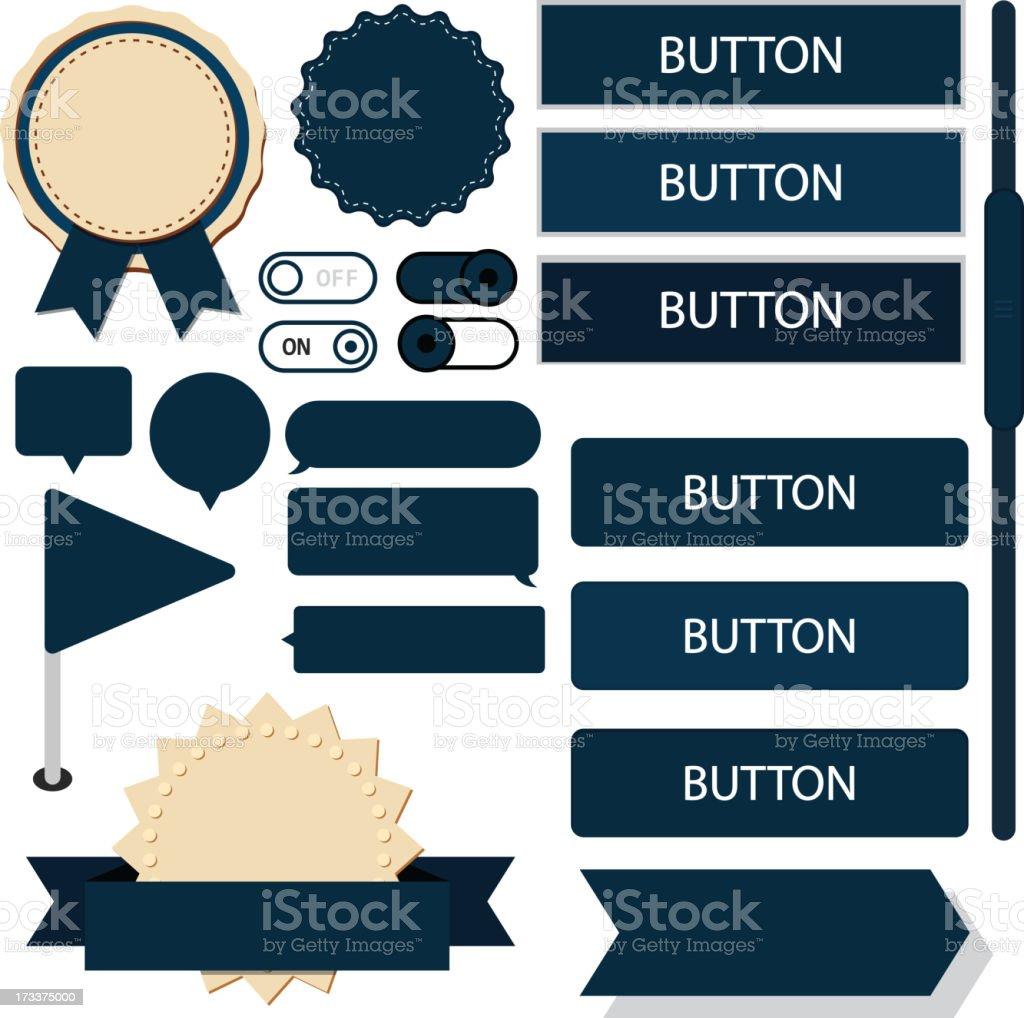 Flat web design elements. royalty-free stock vector art