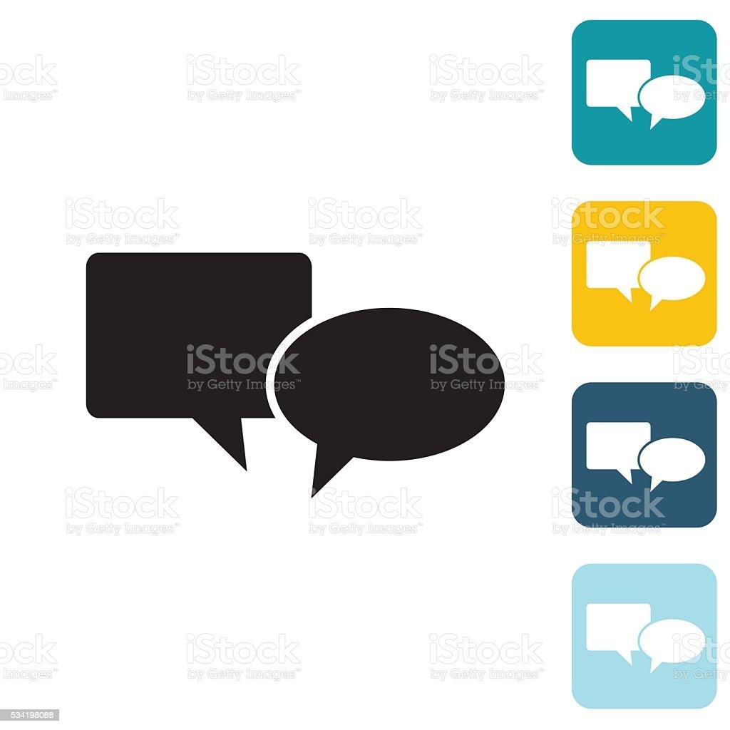 Flat Wedsite Icon - Speech Bubble vector art illustration