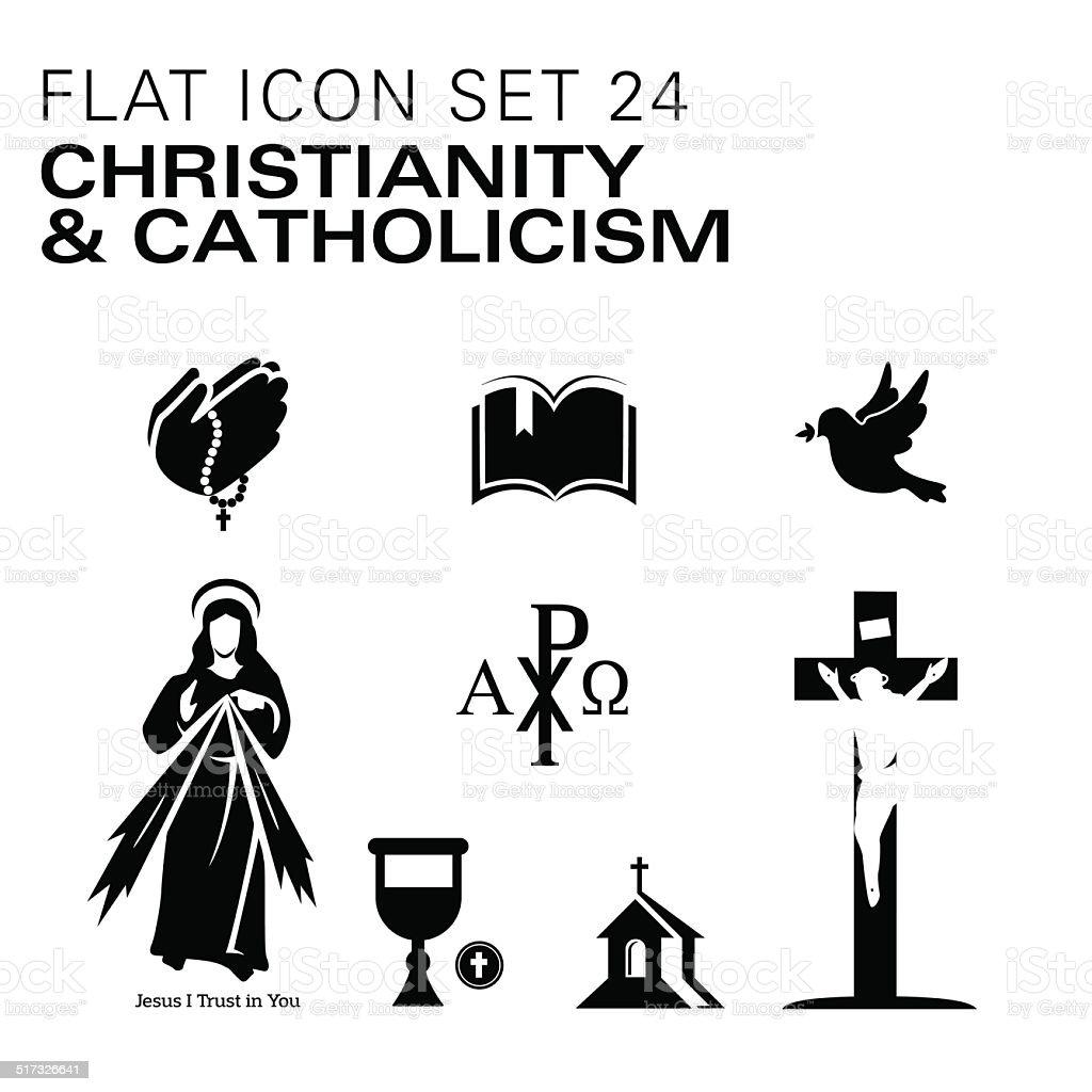Flat24-Christianity and Catholic Religious vector art illustration