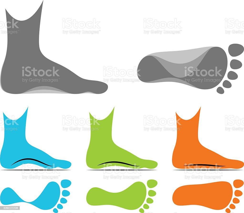 Flatfoot vector art illustration