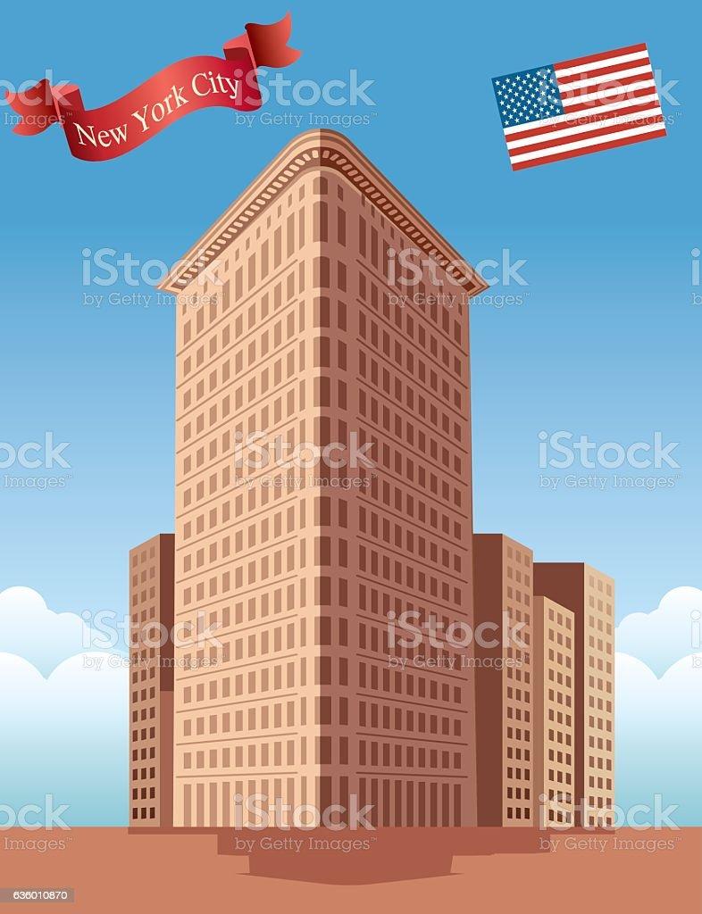 flatiron Building vector art illustration