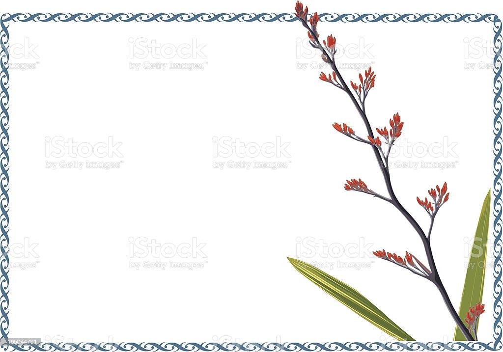 Flax Frame vector art illustration