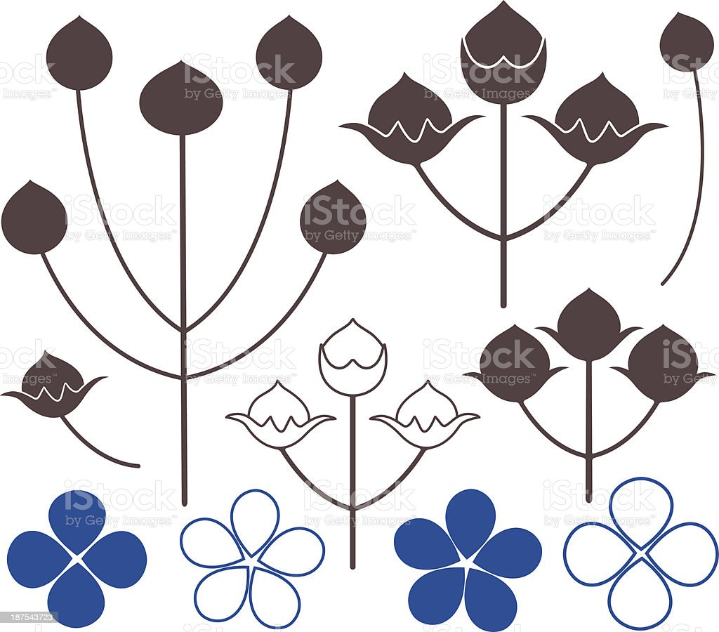 Flax vector art illustration