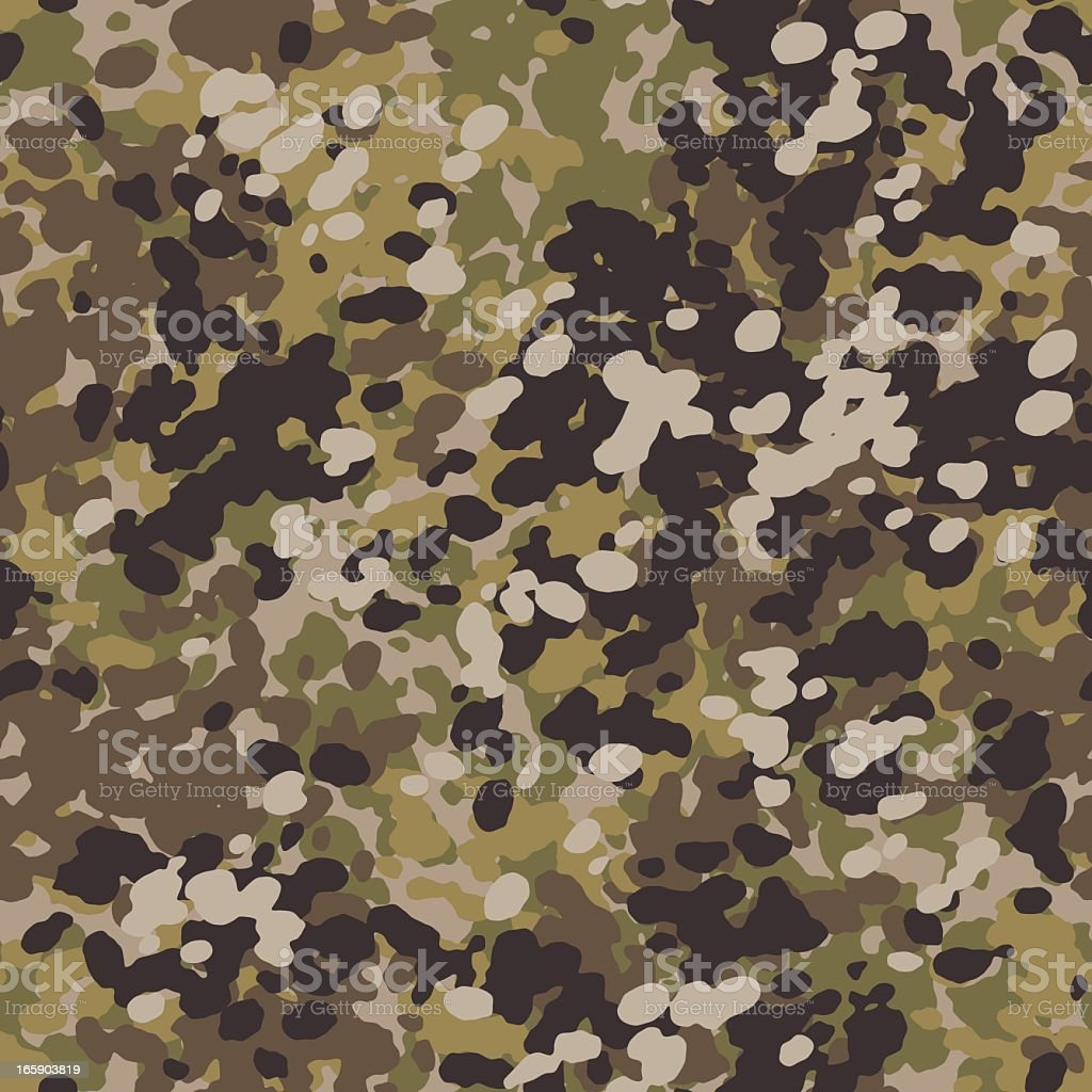 FleckCAM Camouflage - Seamless Tile royalty-free stock vector art