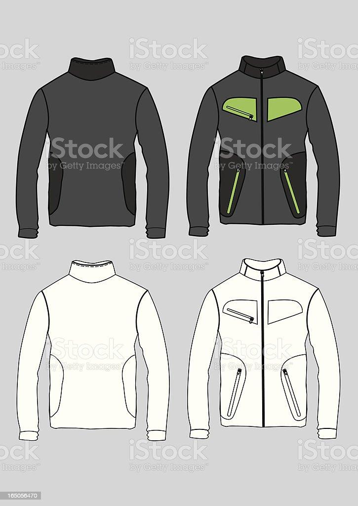fleece jacket vector art illustration