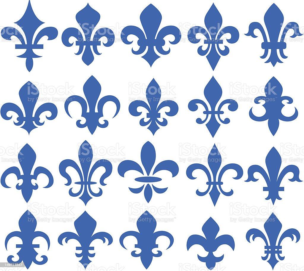 Fleur de lis design illustrazione royalty-free
