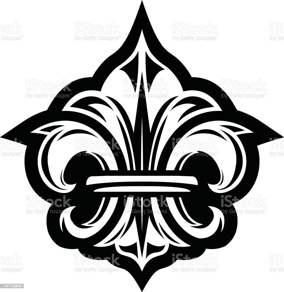 Fleur de lis symbol vector art illustration
