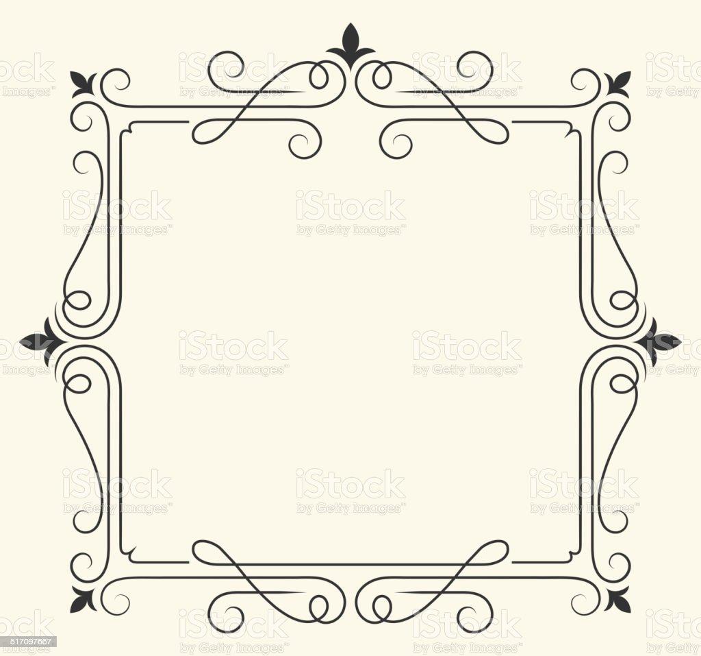 Fleur De Lisroyalty free vector Frame Design Graphic vector art illustration