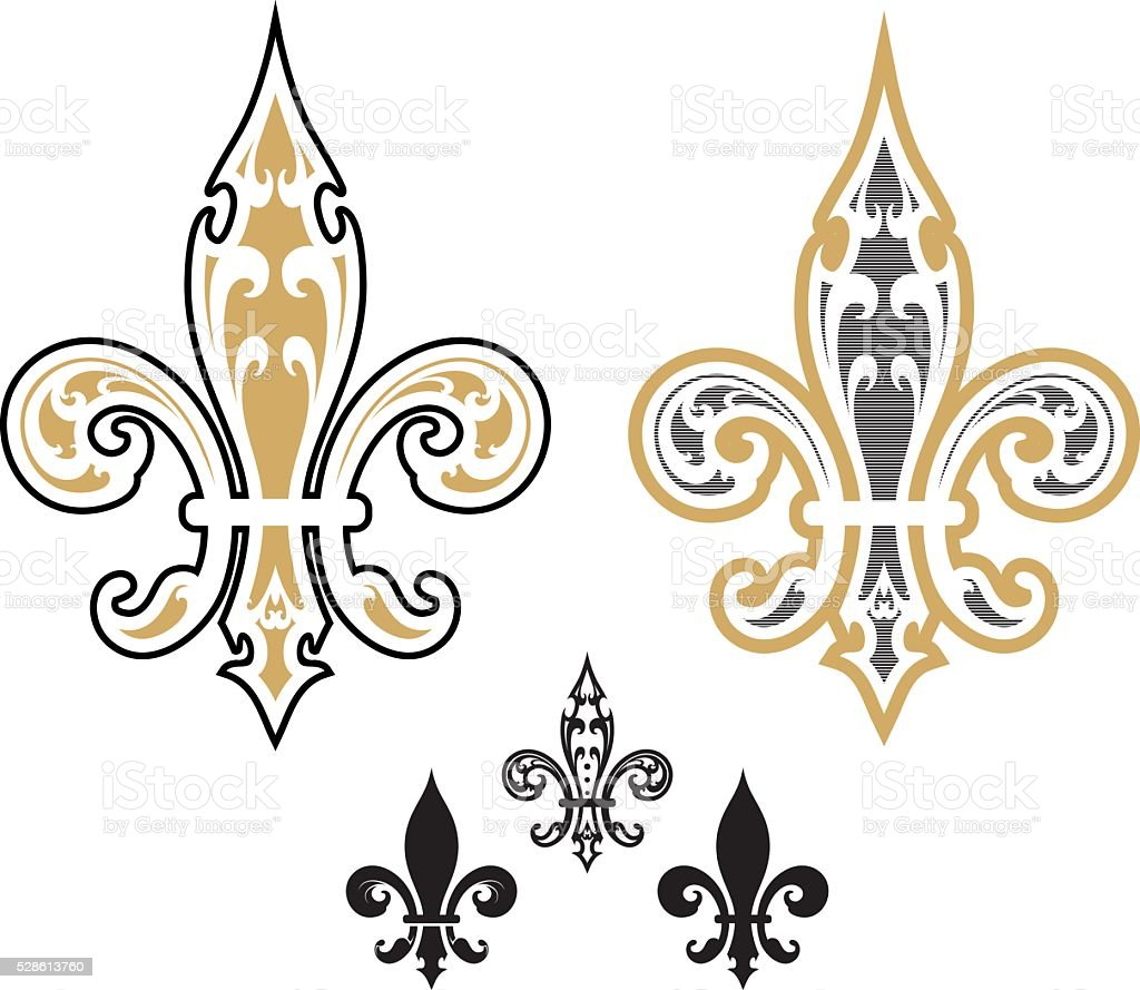 fleur de list designs - Illustration vector art illustration