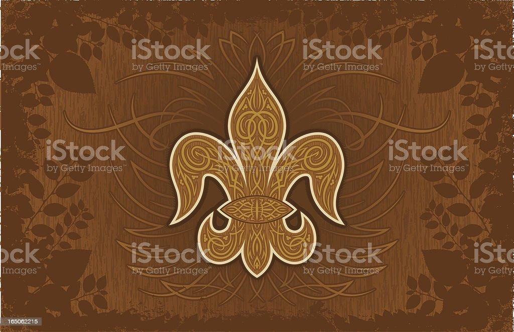 Fleur De Lys Background royalty-free stock vector art