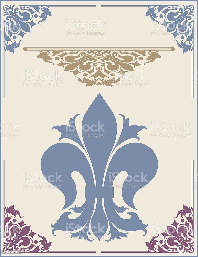 Fleur de Lys Corner Set royalty-free stock vector art