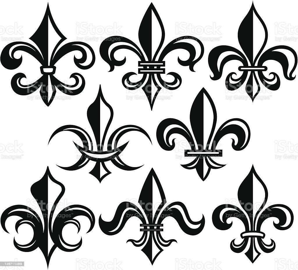 fleur de lys design vector art illustration