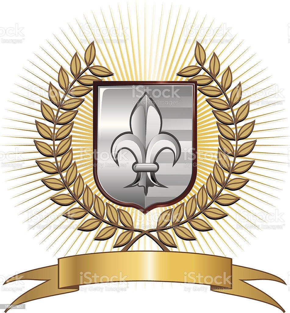 Fleur de Lys emblem royalty-free stock vector art