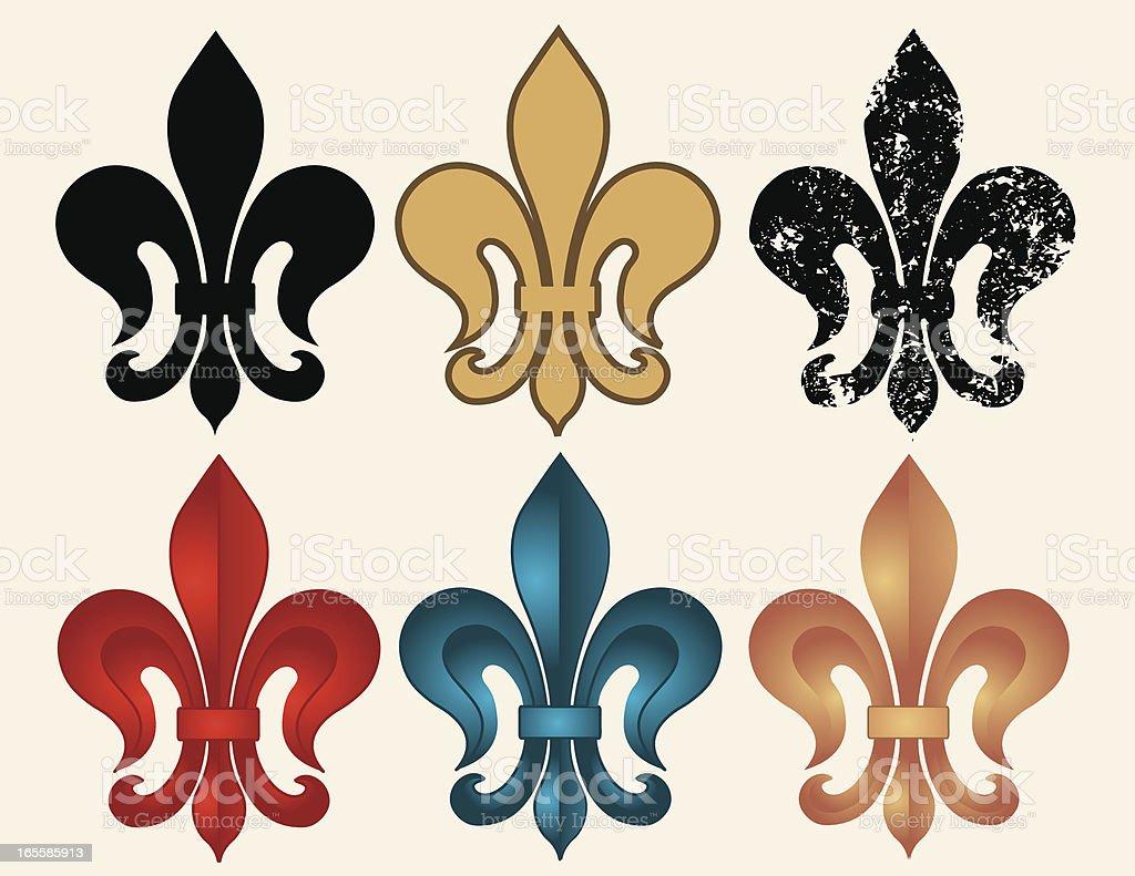 Fleur de Lys Set royalty-free stock vector art