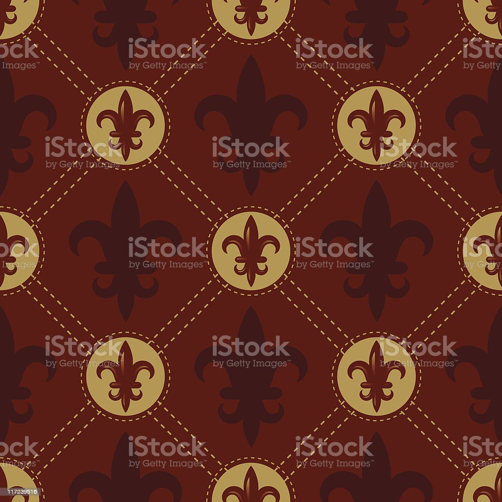 Fleur De Lys Swatch (Seamless) royalty-free stock vector art
